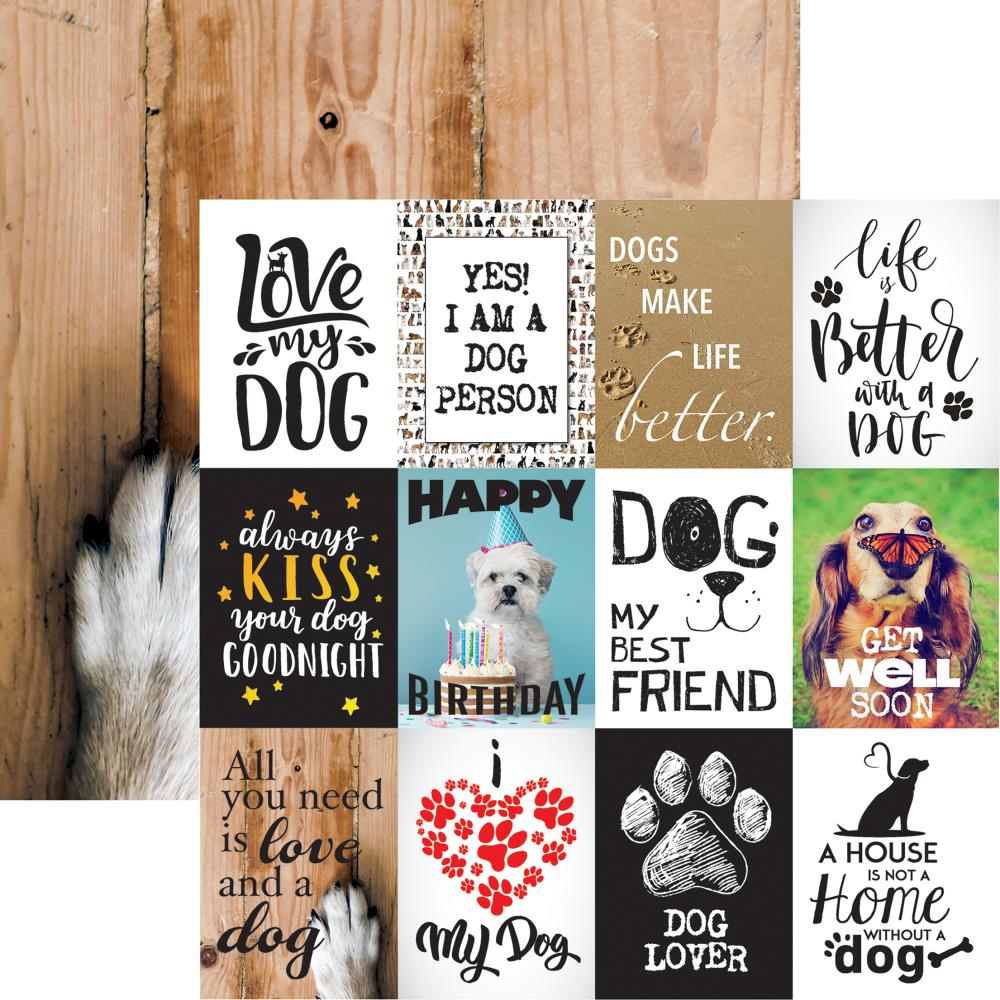 My Best Friend- Love My Dog Double-Sided Cardstock 12X12
