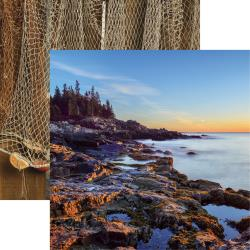 Sunset- Rocky Shores Double-Sided Cardstock 12X12