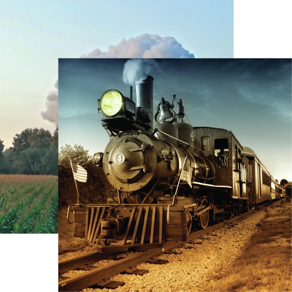 All Aboard Double-Sided Cardstock 12X12-American Classic