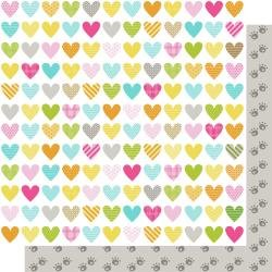 Bella Chloe Double-Sided Cardstock 12X12 Heart Warmer