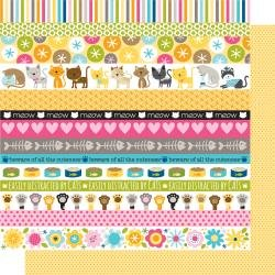 Bella Blvd 12x12 Zoo Crew Snack Time Double-Sided Cardstock Paper