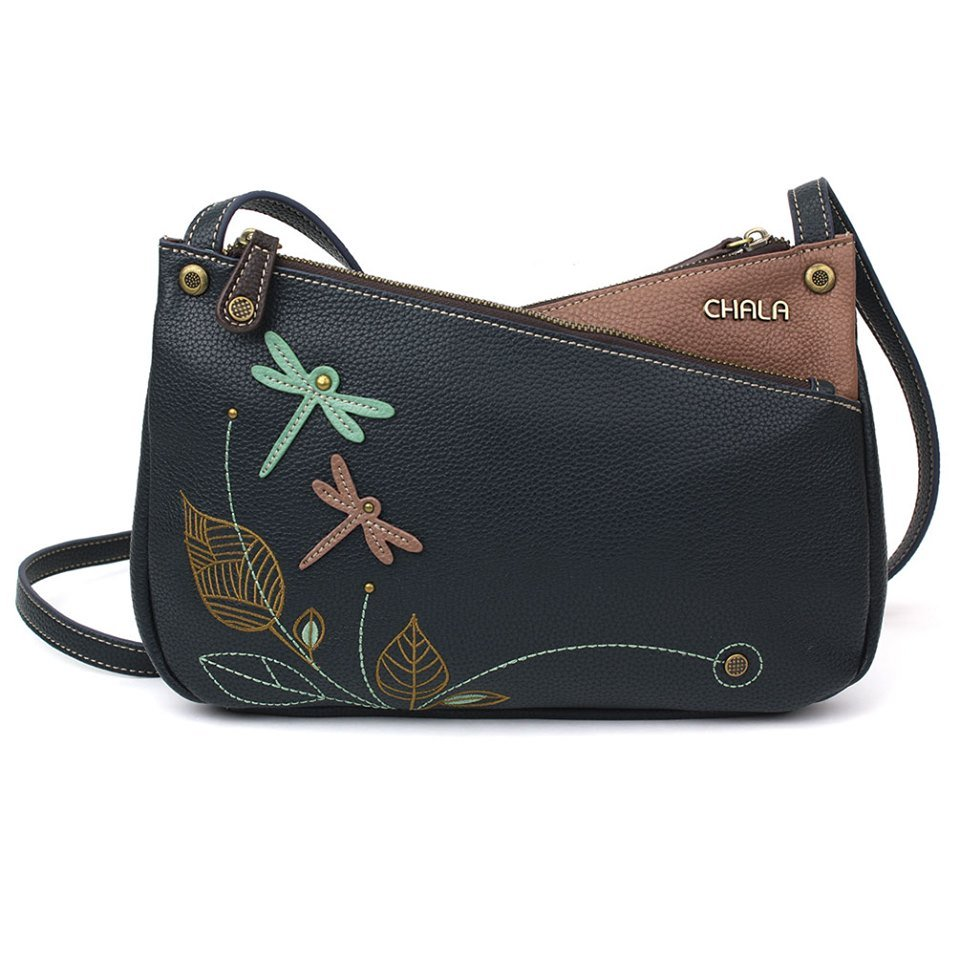 Dragonfly Criss-Cross Crossbody Navy