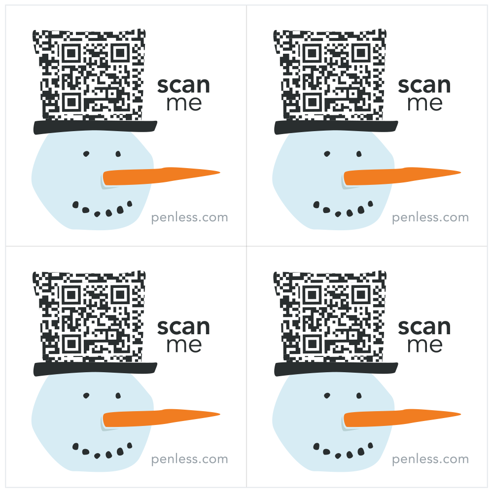 Video Stickers by Penless- Snowman