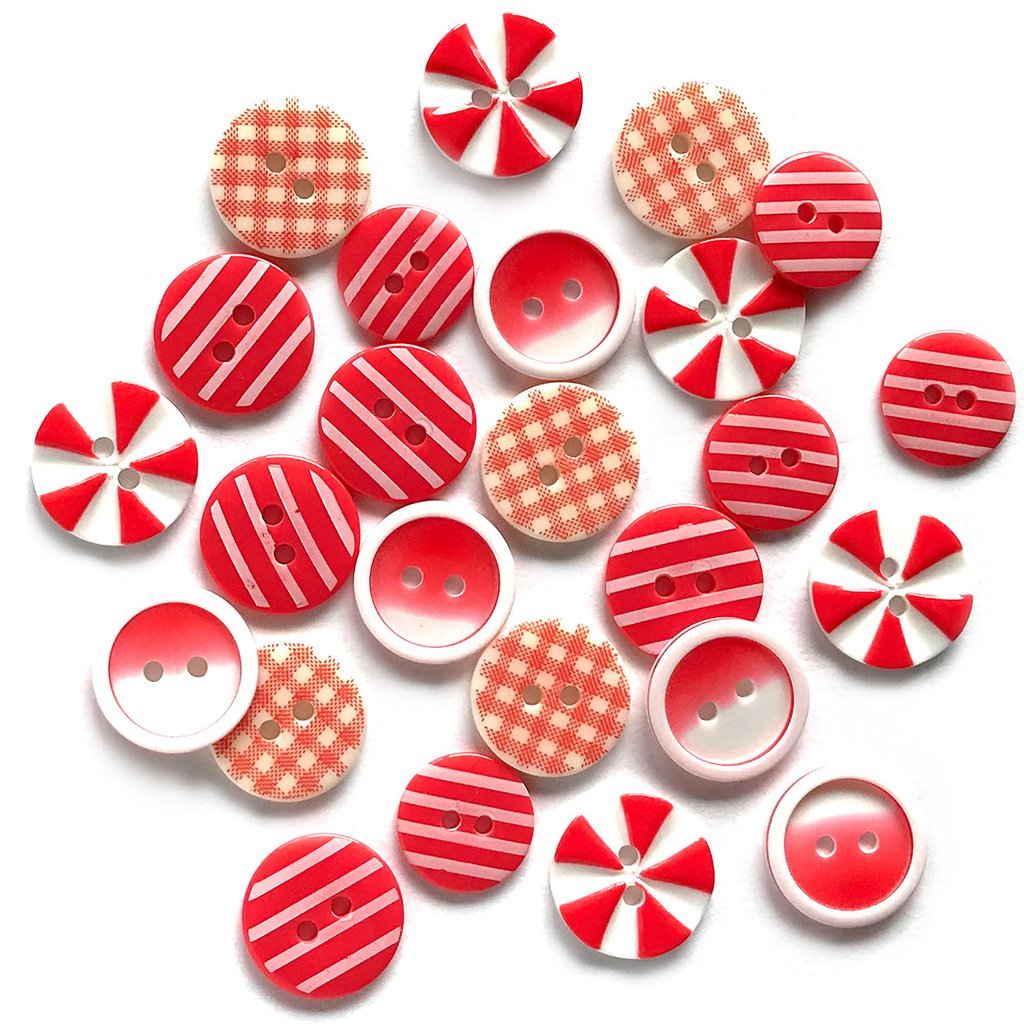 Red Carpet- Printed Buttons