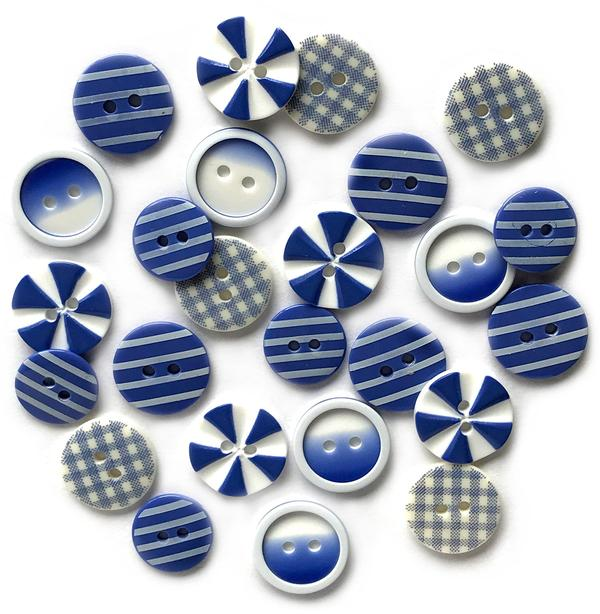House of Blues- Printed Buttons