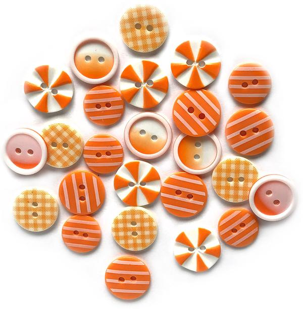 Orange Slices- Printed Buttons