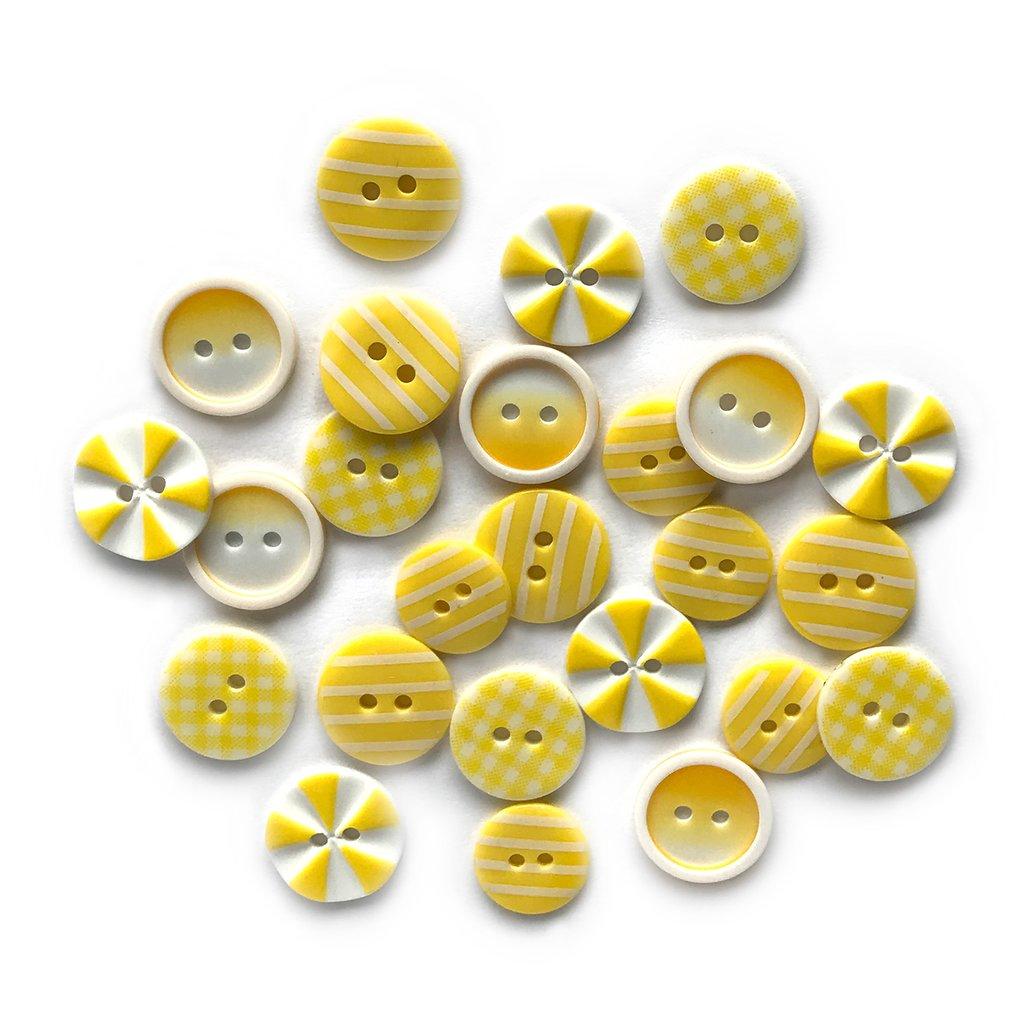 Sunburst Printed Buttons