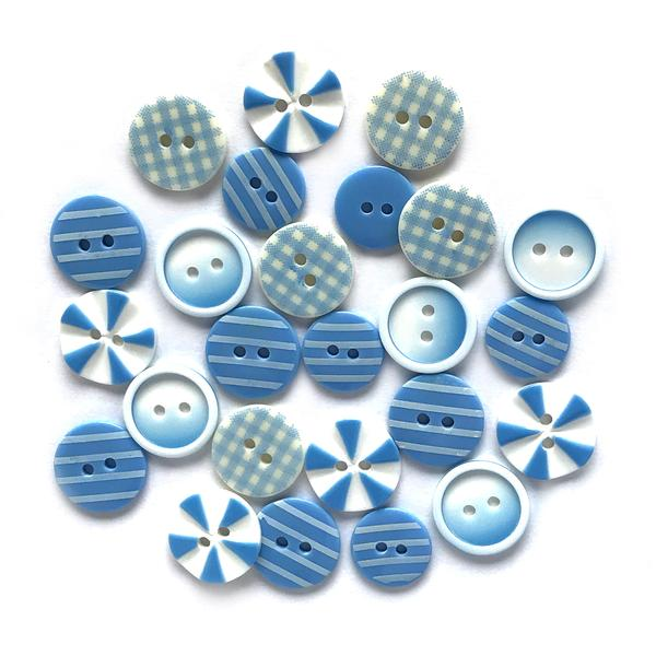 Blues Medley Painted Buttons