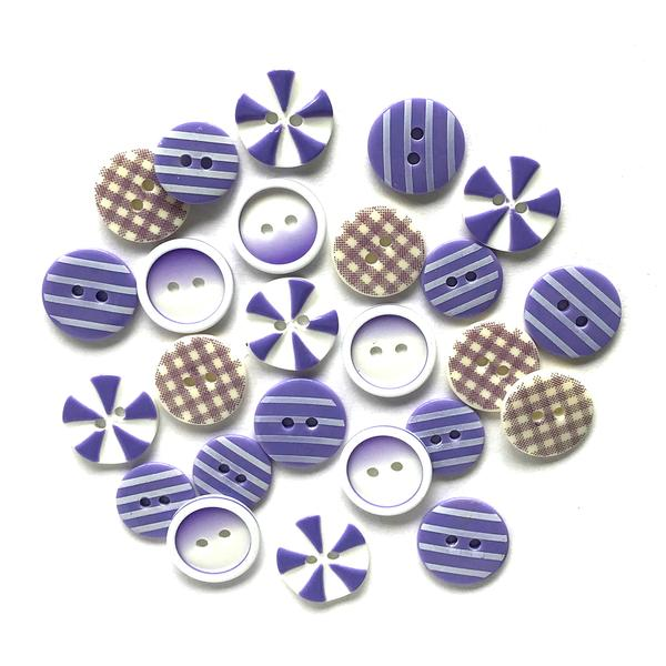 Plum Crazy Painted Buttons