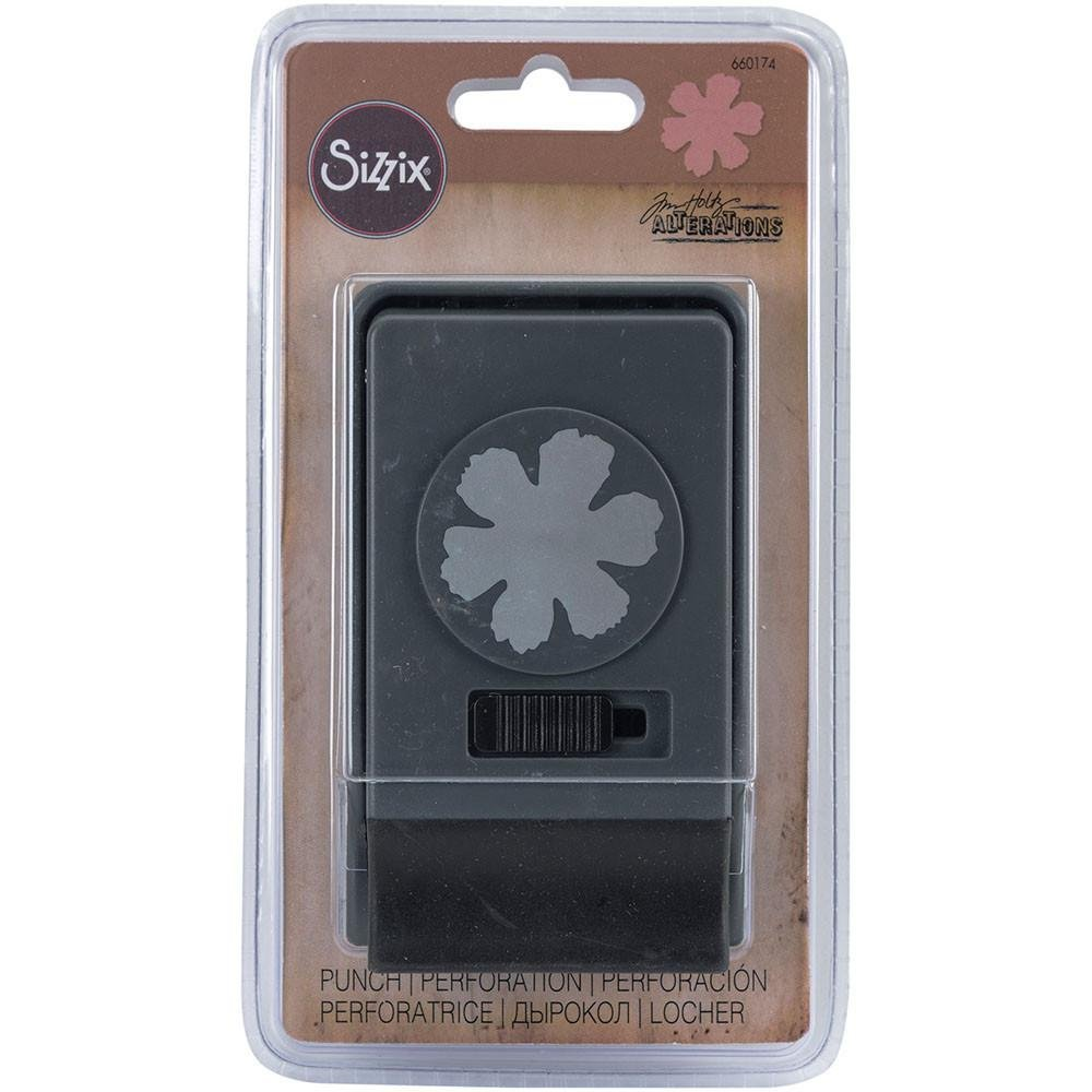 Sizzix Large Paper Punch By Tim Holtz Tattered Flower 841182090935