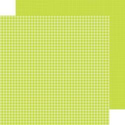 Doodlebug Citrus gingham-linen Petite Print