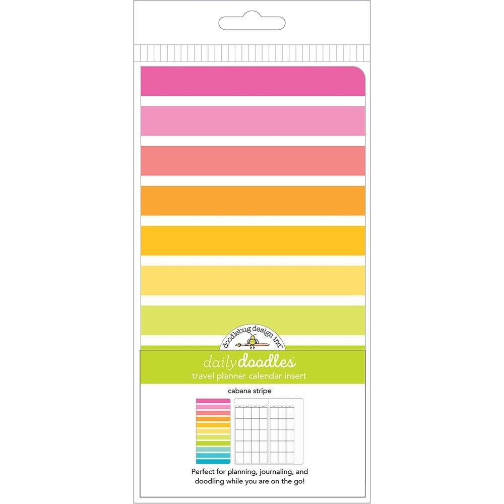 Doodlebug Planner Inserts Cabana Stripes Daily Doodles Calendar