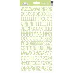 Doodlebug Sunshine Cardstock Alpha Stickers 6X13-Limeade