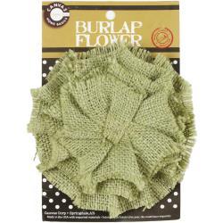 Burlap Flower-Linen