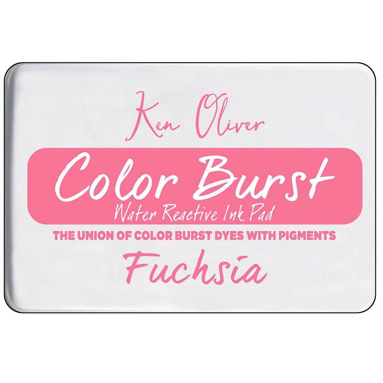Ken Oliver Color Burst Ink Pad- Fuchsia