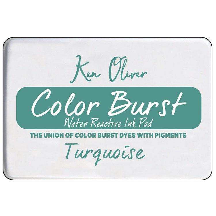 Ken Oliver Color Burst Ink Pad- Turquoise