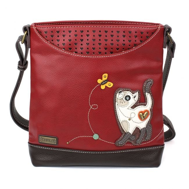 Slim Cat Burgundy Sweet Messenger Chala Bag