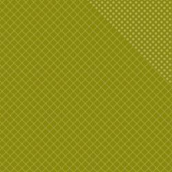Spectrum Series 2 Double-Sided Cardstock 12X12 Crocodile Smile Quatrefoil/Dot