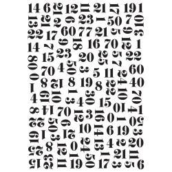 Numbers Embossing Folder