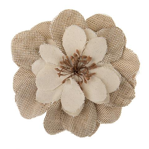Burlap Flower- Floral Embellishment 1pc