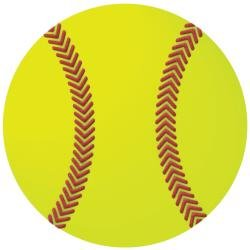 Softball Die Cut Paper