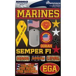 Reminisce Marines Stickers