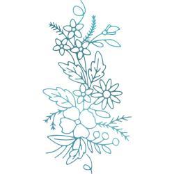 Couture Creations Le Petit Jardin Hotfoil Stamp Floral Arrangement #3 1.9X3.8