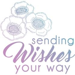 Couture Creations Le Petit Jardin Stamps Mini Sending Wishes, 1.9X1.9