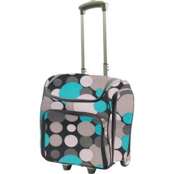 Couture Creations Craft Rolling Travel Trolley Blue & Grey Spots