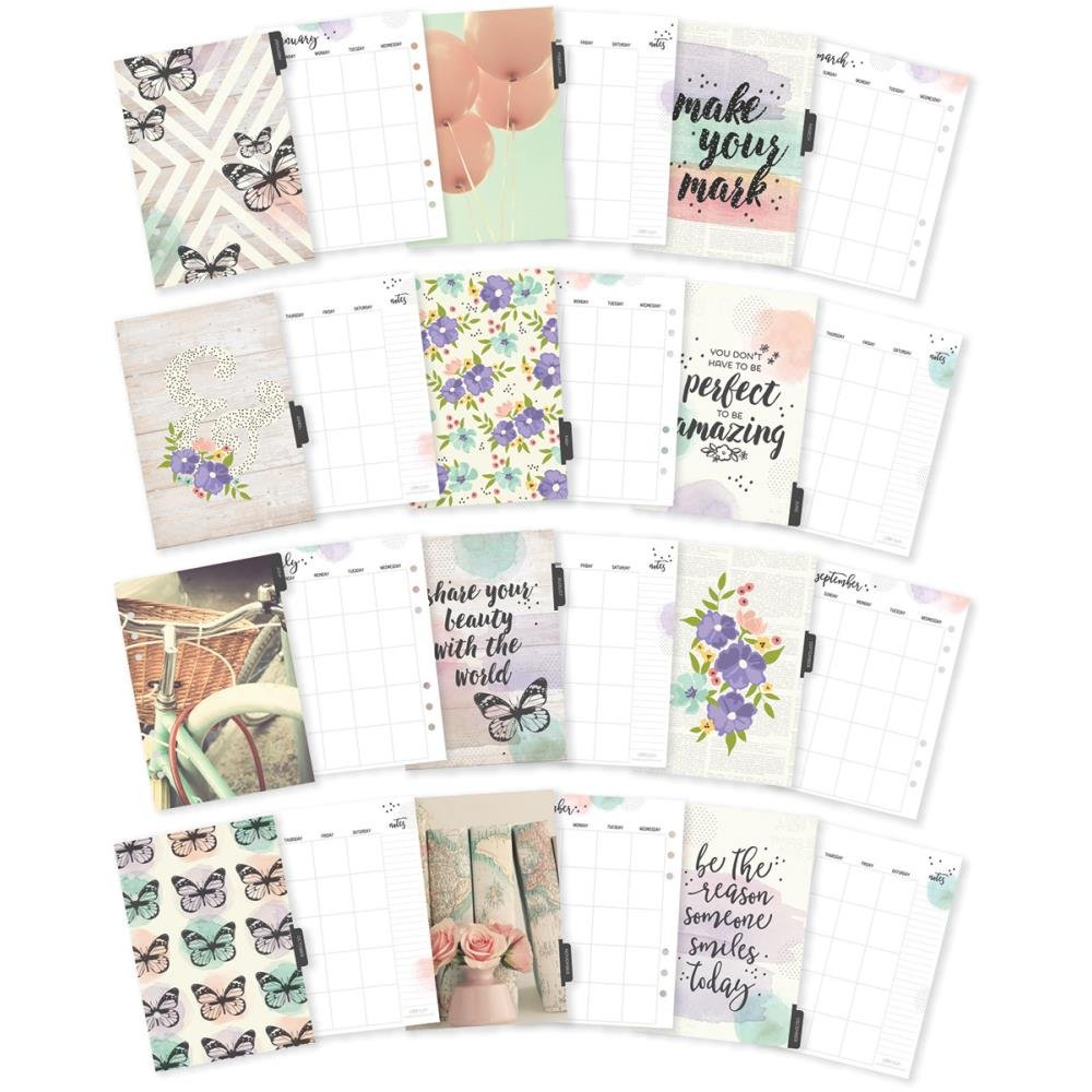 Carpe Diem A5 Monthly Planner Inserts- Bliss