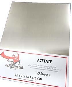 Acetate 8.5X11 Individual sheets