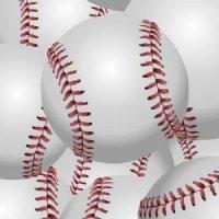 Baseballs Laminated Vinyl 12x24