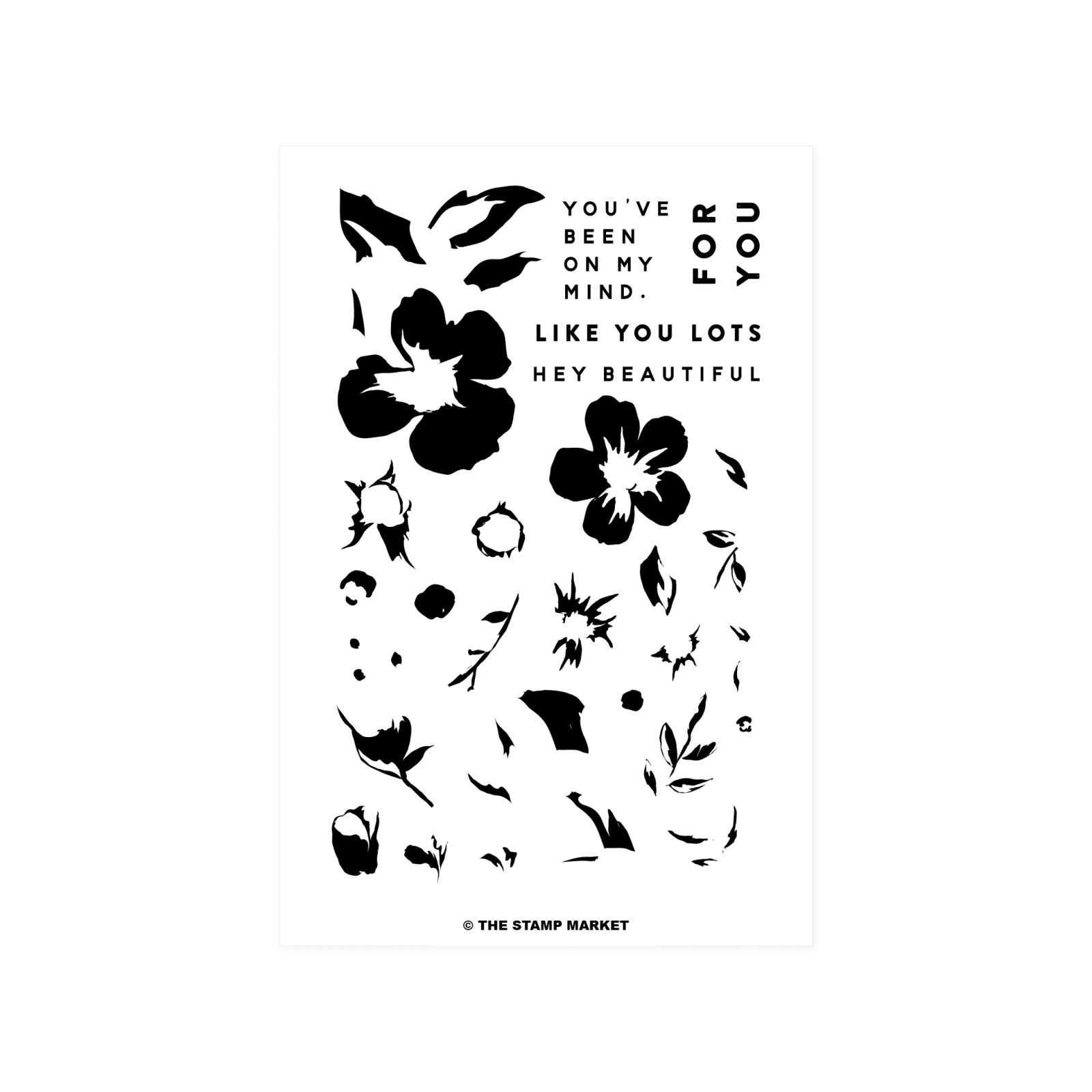 Beautiful Blooms Stamp Set -The Stamp Market