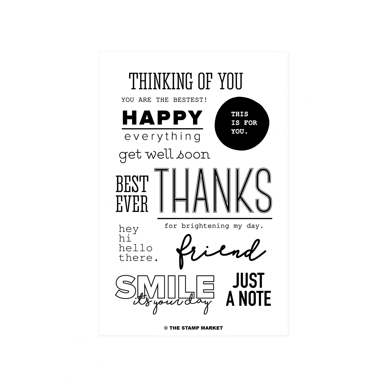 Best Ever Greetings Stamp Set -The Stamp Market