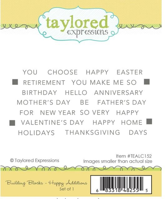 Building Blocks- Happy Additions - Taylored Expressions Stamp
