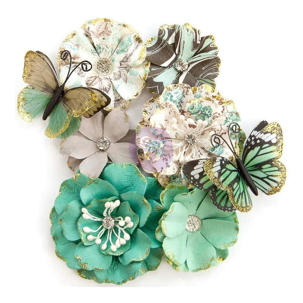 PRIMA-Zella Teal- Butterfly Kiss Flowers