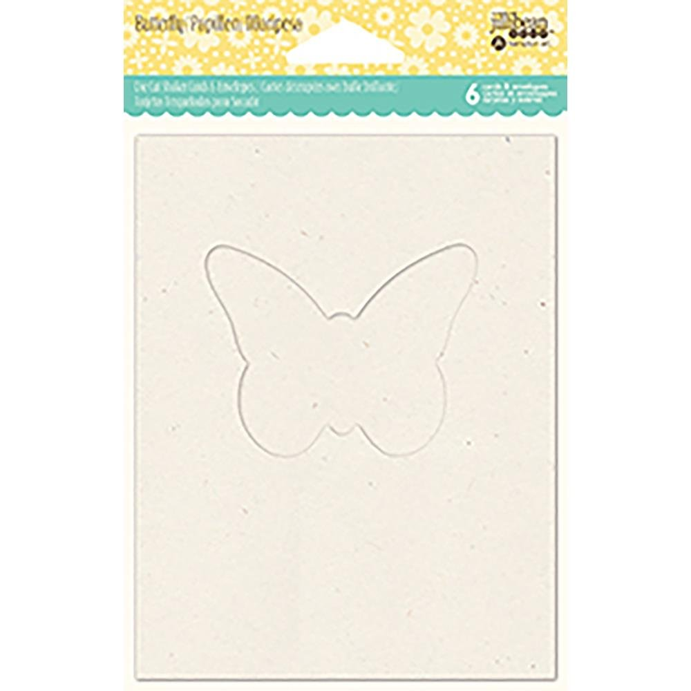 Jillibean Soup Shaker Cards W/Envelopes 6Pk- Butterfly