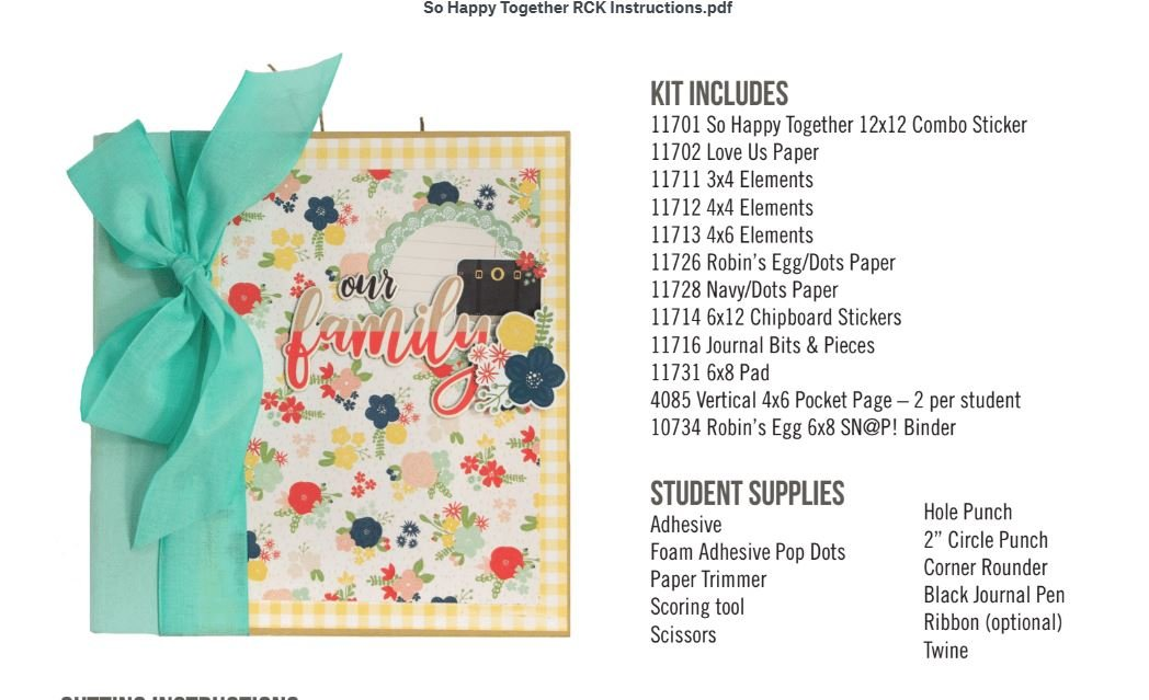 So Happy Together 6x8 Album Kit