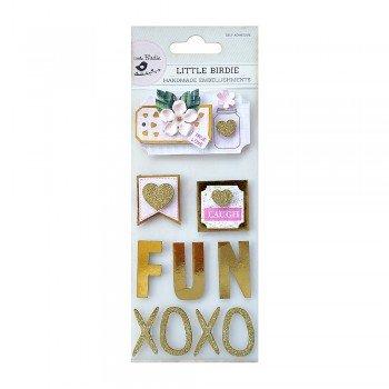 Foil & Glitter FUN Embellishments Stickers - Little Birdie