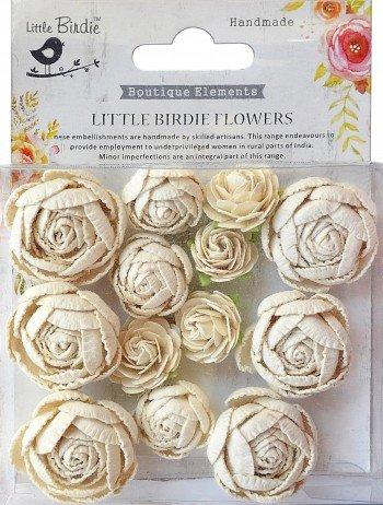 Boutique Elements Flowers Cream - Little Birdie