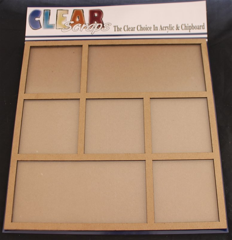 Clear Scraps Square Rectangle 12x12 Tray