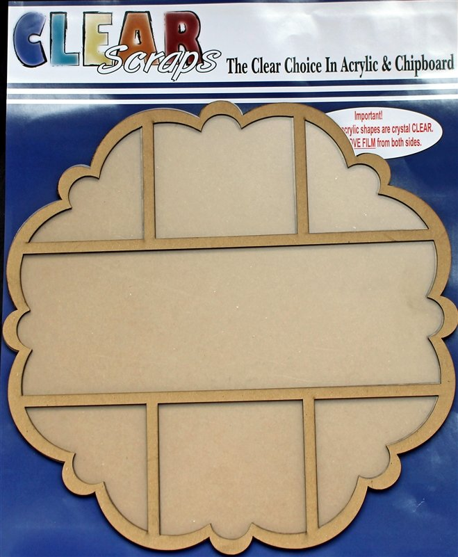 Clear Scraps Scallop Circle 12x12 Tray