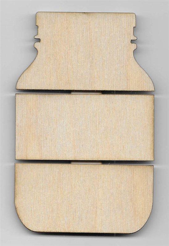 Mason Jar Birch mini pallet
