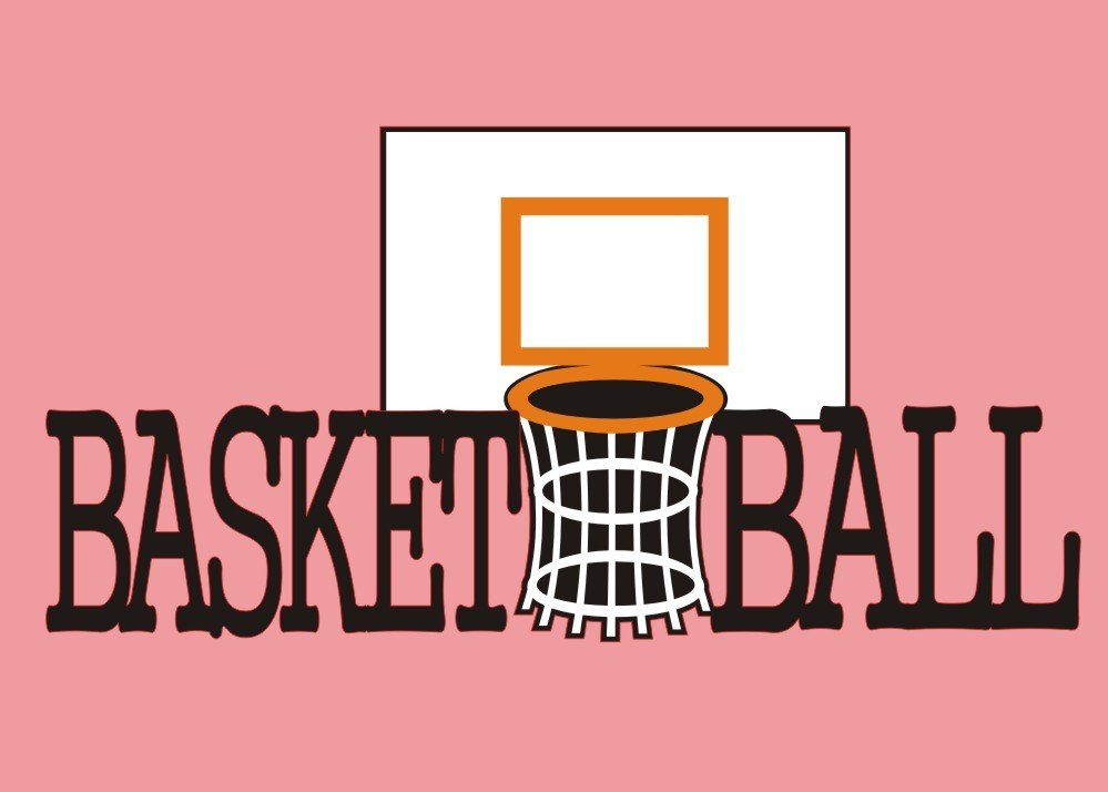BASKETBALL BACKBOARD WITH TEXT DIE CUT - Want2Scrap