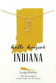 Hello Hooisers Indiana Necklace by Lucky Feather