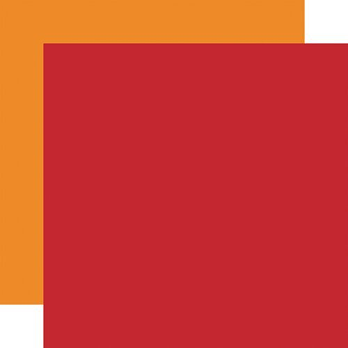 red/Lt. Orange - Echo Park Double-Sided Solid Cardstock 12X12 6/Pkg-Fall,  - copy