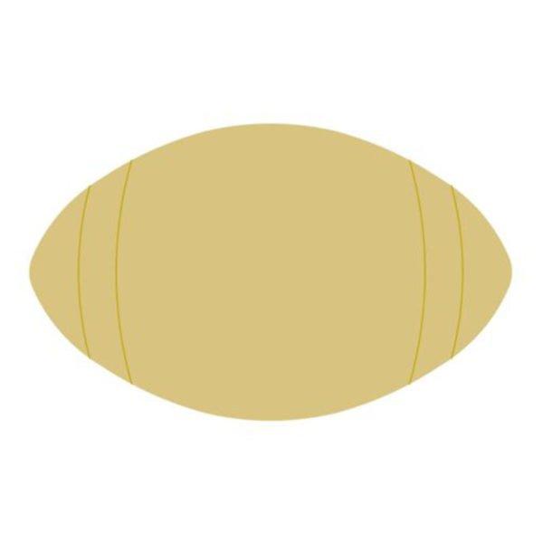Football w/Detail lines- 6 MDF