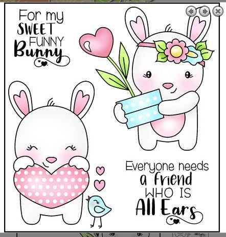 Darcie's heart & home Clear stamp- Funny Bunny