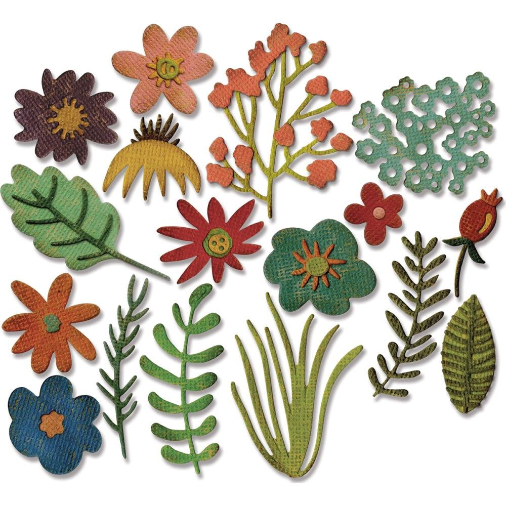 Sizzix Thinlits Dies By Tim Holtz - Funky Floral #1
