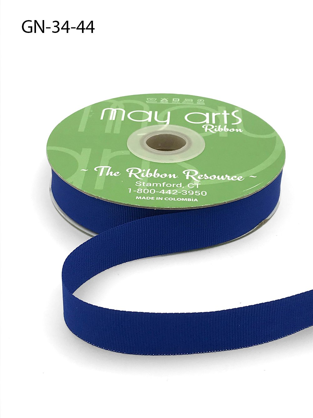 Royal 3/4 Inch Light-Weight Flat Grosgrain Ribbon with Woven Edge